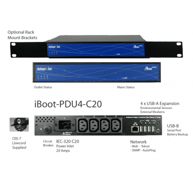 Switched PDU 4 Outlet IEC 20A